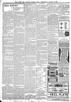 The Algona Upper Des Moines from Algona, Iowa on March 29, 1899 · Page 6