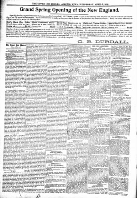 The Algona Upper Des Moines from Algona, Iowa on April 5, 1899 · Page 4