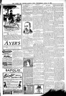 The Algona Upper Des Moines from Algona, Iowa on April 12, 1899 · Page 7
