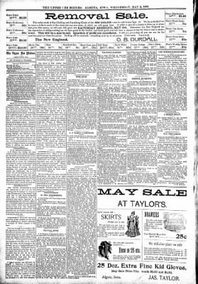The Algona Upper Des Moines from Algona, Iowa on May 3, 1899 · Page 4