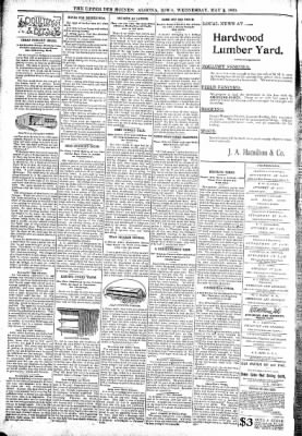 The Algona Upper Des Moines from Algona, Iowa on May 3, 1899 · Page 6