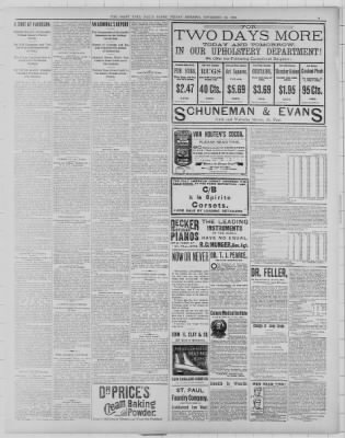 The Saint Paul Globe from Saint Paul, Minnesota on November 20, 1891 ...