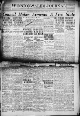 Winston-Salem Journal from Winston-Salem, North Carolina on