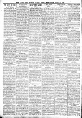 The Algona Upper Des Moines from Algona, Iowa on June 21, 1899 · Page 2