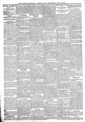 The Algona Upper Des Moines from Algona, Iowa on July 5, 1899 · Page 4