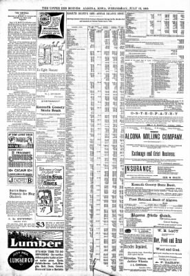 The Algona Upper Des Moines from Algona, Iowa on July 12, 1899 · Page 8