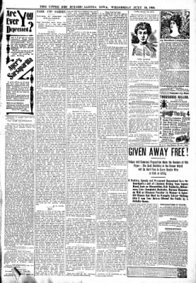The Algona Upper Des Moines from Algona, Iowa on July 19, 1899 · Page 7