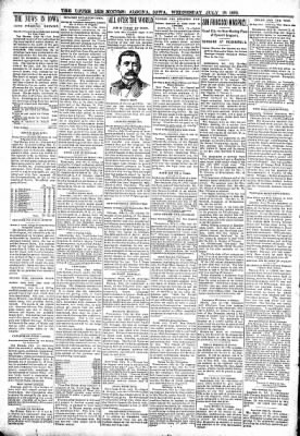 The Algona Upper Des Moines from Algona, Iowa on July 26, 1899 · Page 2
