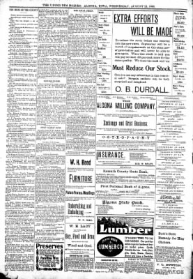 The Algona Upper Des Moines from Algona, Iowa on August 23, 1899 · Page 10