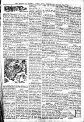 The Algona Upper Des Moines from Algona, Iowa on August 30, 1899 · Page 3