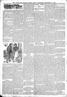 The Algona Upper Des Moines from Algona, Iowa on September 13, 1899 · Page 2