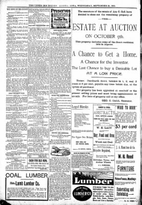 The Algona Upper Des Moines from Algona, Iowa on September 20, 1899 · Page 10