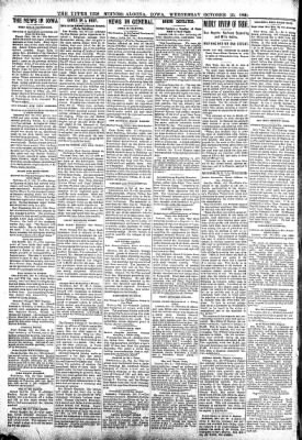 The Algona Upper Des Moines from Algona, Iowa on October 25, 1899 · Page 2