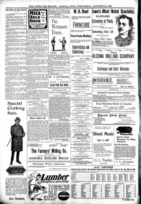 The Algona Upper Des Moines from Algona, Iowa on October 25, 1899 · Page 8