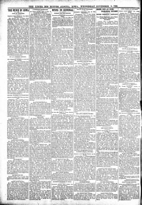 The Algona Upper Des Moines from Algona, Iowa on November 8, 1899 · Page 2