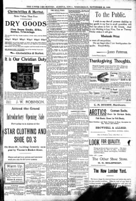 The Algona Upper Des Moines from Algona, Iowa on November 22, 1899 · Page 5