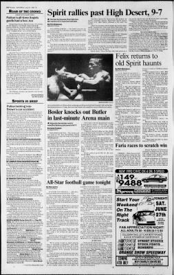 The San Bernardino County Sun from San Bernardino, California on June 27, 1992 · Page 23