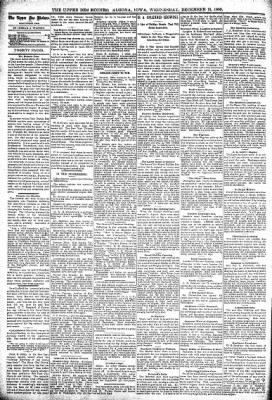 The Algona Upper Des Moines from Algona, Iowa on December 13, 1899 · Page 14