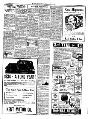 The Algona Upper Des Moines from Algona, Iowa on January 11, 1934 · Page 3