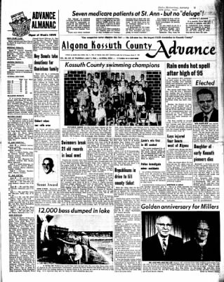 Kossuth County Advance from Algona, Iowa on July 7, 1966 · Page 1