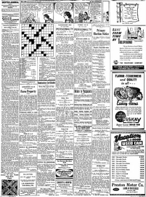 Denton Journal from Denton, Maryland on September 10, 1938 · Page 9