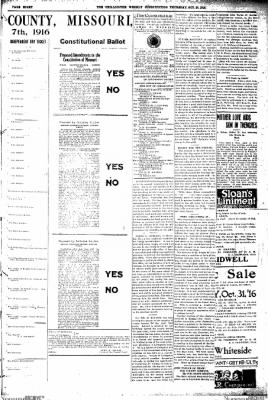 The Chillicothe Constitution-Tribune from Chillicothe, Missouri on October 26, 1916 · Page 5