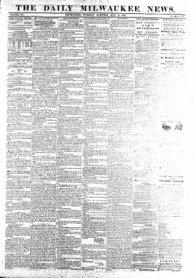 The Daily Milwaukee News from Milwaukee, Wisconsin on May 10, 1859 · Page 1
