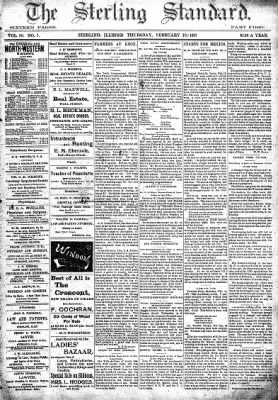 Sterling Standard from Sterling, Illinois on February 18, 1897 · Page 1
