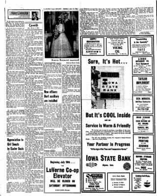 Kossuth County Advance from Algona, Iowa on July 11, 1966 · Page 6