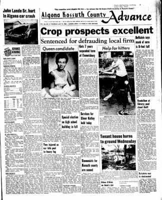 Kossuth County Advance from Algona, Iowa on July 14, 1966 · Page 1