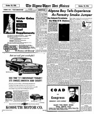 The Algona Upper Des Moines from Algona, Iowa on October 23, 1956 · Page 17