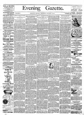 Sterling Daily Gazette from Sterling, Illinois on January 19, 1888 · Page 1