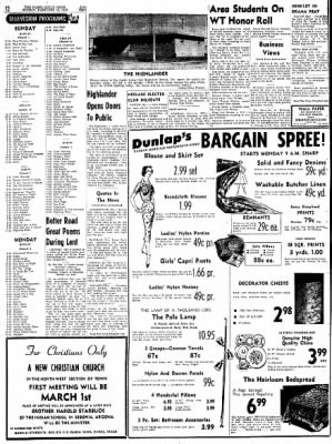 Pampa Daily News from Pampa, Texas on February 15, 1959 · Page 12
