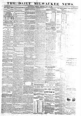 The Daily Milwaukee News from Milwaukee, Wisconsin on May 20, 1859 · Page 1