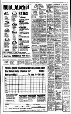 Ukiah Daily Journal from Ukiah, California on September 17, 1987 · Page 13