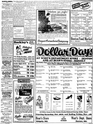 Denton Journal from Denton, Maryland on October 29, 1938 · Page 8