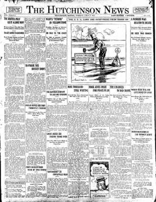 The Hutchinson News from Hutchinson, Kansas on July 2, 1923 · Page 1