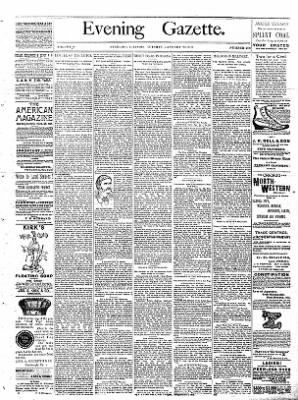 Sterling Daily Gazette from Sterling, Illinois on January 24, 1888 · Page 1