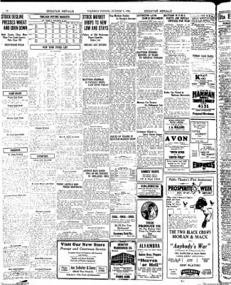 Decatur Evening Herald from Decatur, Illinois on October 9, 1930 · Page 12
