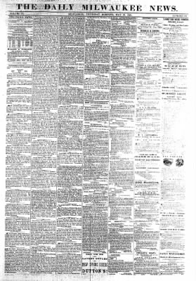 The Daily Milwaukee News from Milwaukee, Wisconsin on May 26, 1859 · Page 1