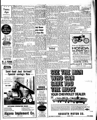 Kossuth County Advance from Algona, Iowa on July 14, 1966 · Page 15