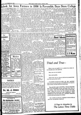 Lenox Time Table from Lenox, Iowa on November 28, 1935 · Page 3
