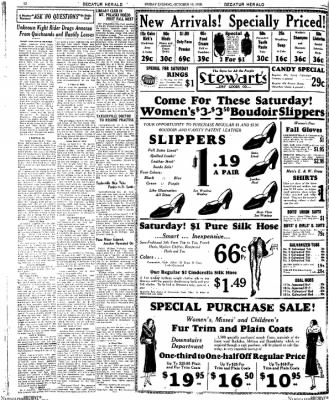 Decatur Evening Herald from Decatur, Illinois on October 10, 1930 · Page 12
