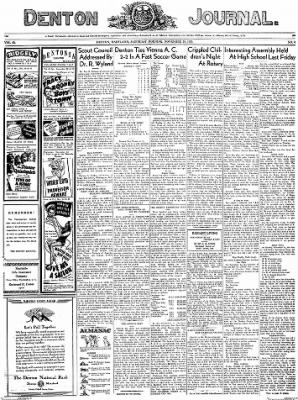 Denton Journal from Denton, Maryland on November 19, 1938 · Page 1