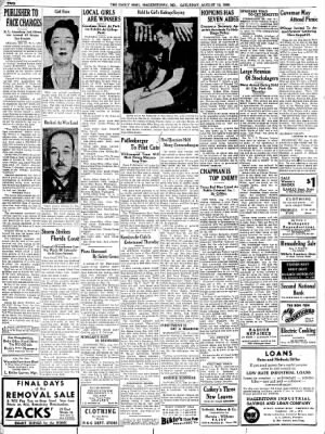 The Daily Mail from Hagerstown, Maryland on August 12, 1939 · Page 2
