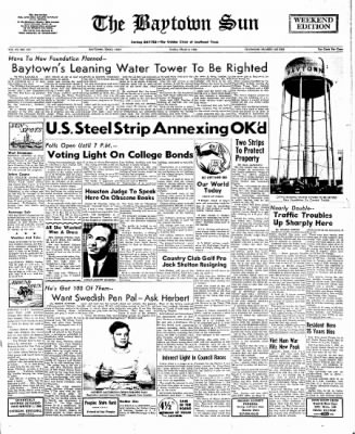 The Baytown Sun from Baytown, Texas on March 6, 1966 · Page 1