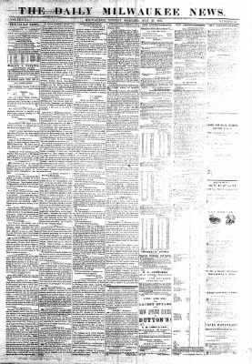 The Daily Milwaukee News from Milwaukee, Wisconsin on May 29, 1859 · Page 1