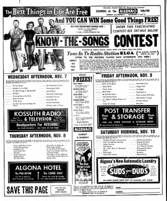 The Algona Upper Des Moines from Algona, Iowa on November 6, 1956 · Page 14