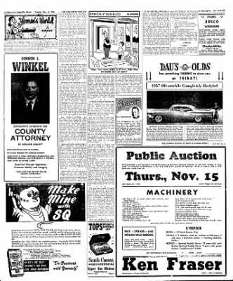 The Algona Upper Des Moines from Algona, Iowa on November 6, 1956 · Page 18