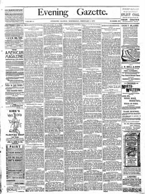 Sterling Daily Gazette from Sterling, Illinois on February 1, 1888 · Page 1